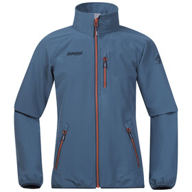 Bergans Boys Kjerag Youth Jacket Steel Blue/Dark Steel Blue/Koi Orange